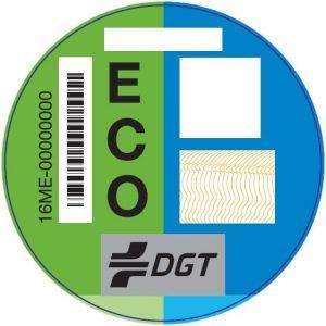 Pegatina ECO de la DGT