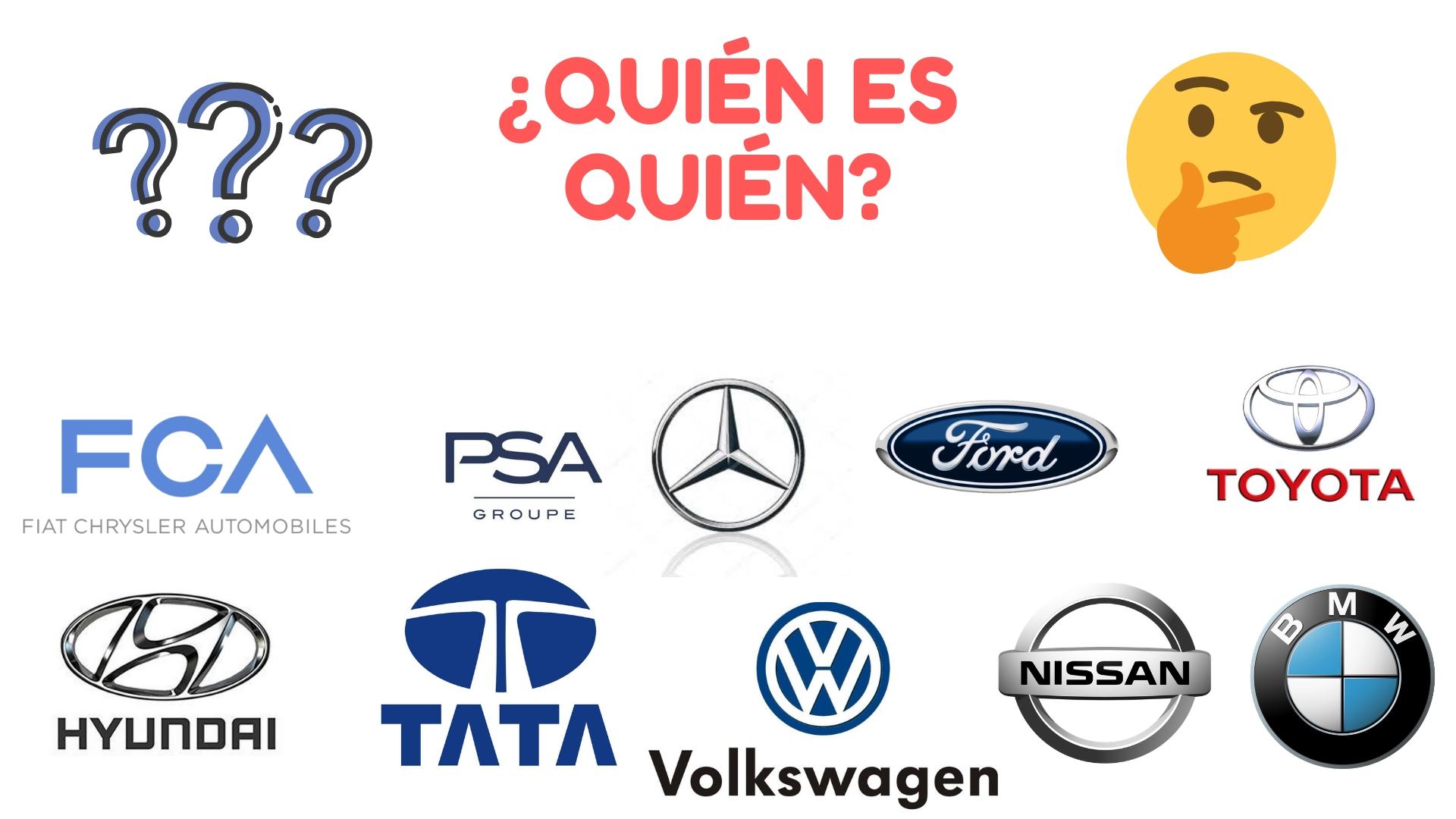 Los grupos automovilísticos que controlan el mercado.