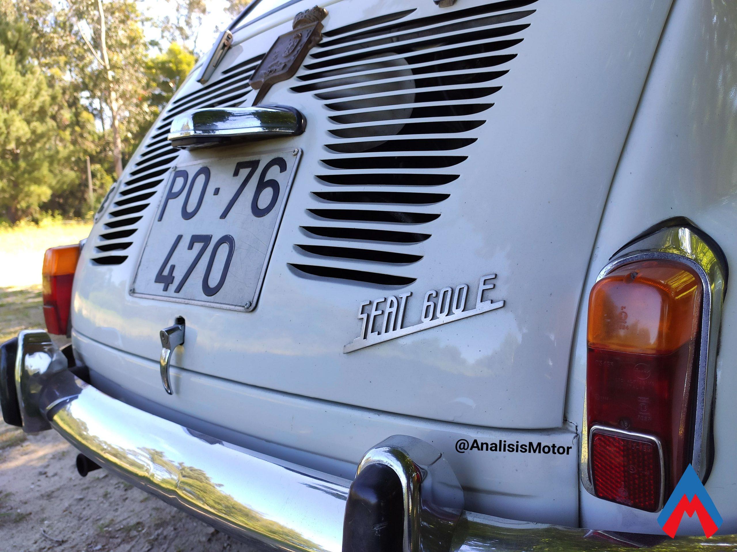 Seat 600 E 1970 trasera